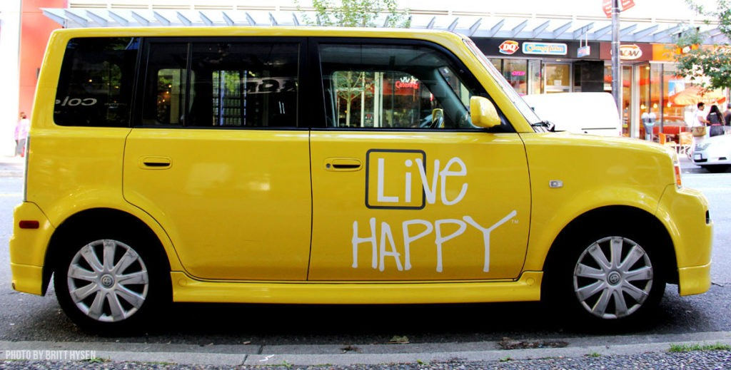 Live Happy is Millennial Magazine's motto of the week.